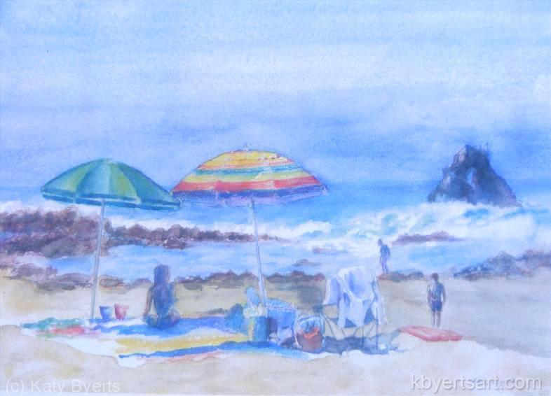 Katy Byerts Crescent Bay Beach California seascape painting