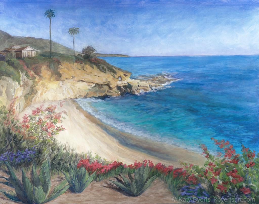 Katy Byerts Montage Keyhole seascape painting